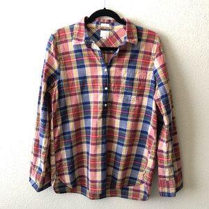 J.Crew Boyfriend Fit Plaid Shirt 100% Cotton!
